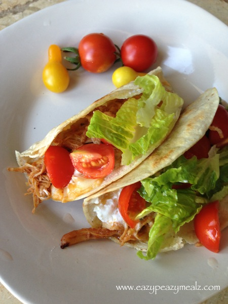 crockpot bbq chicken tacos