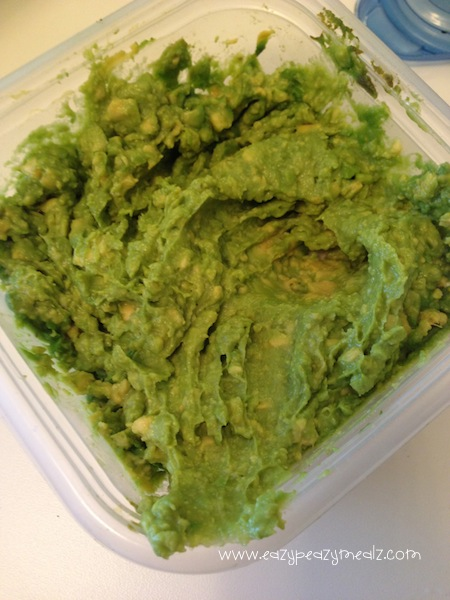 Guacamole Pumpkin Puke: A fun and creative way to serve guacamole dip with chips at any Halloween part! Is sure to make guests look twice before dipping!