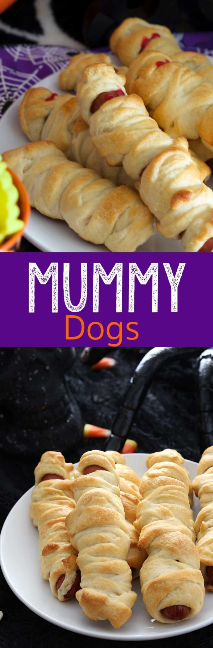Mummy Dogs, are a perfect meal for Halloween night and lots of fun for the kids! Mummy Dogs are a fun, festive, and easy meal.