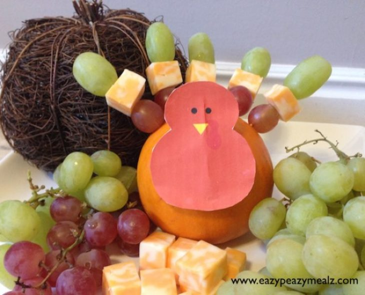 fruit and cheese turkey