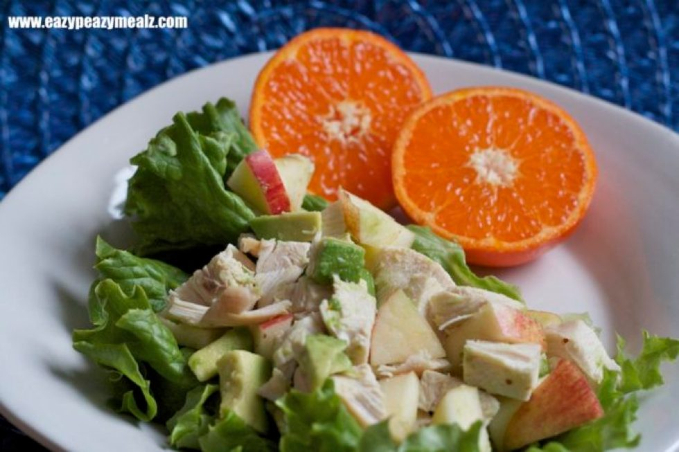 apple chicken avocado lettuce wrap