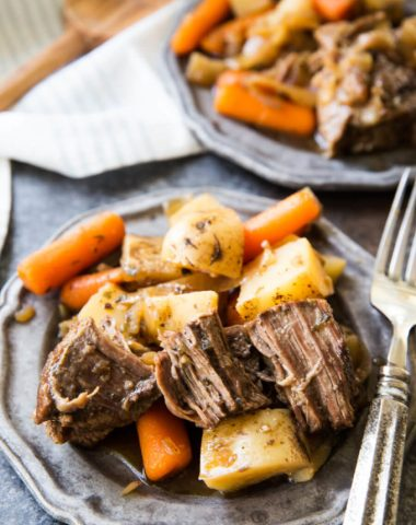 This is the best tasting crock pot pot roast I have ever eaten. Hands down!