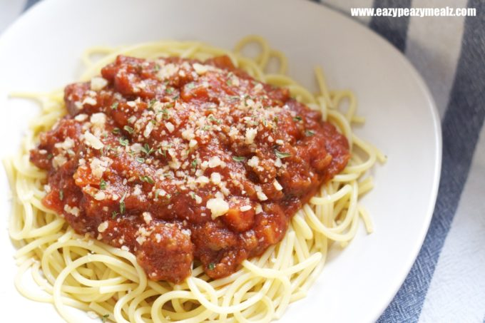 Spaghetti With Meat Sauce Easy Peasy Meals