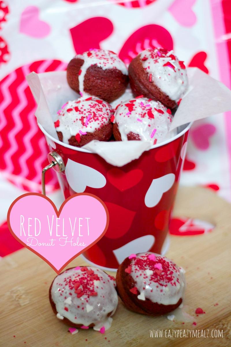 red velvet donut holes for v day
