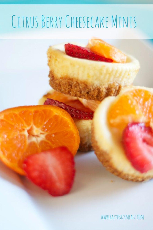 Citrus Berry Cheesecake minis