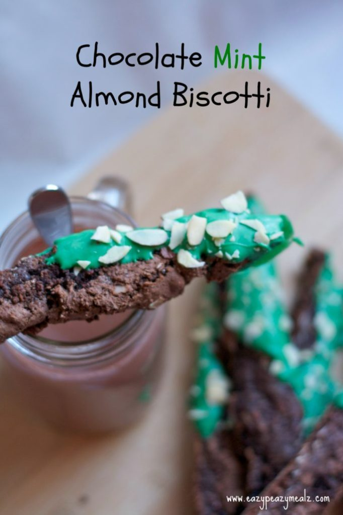 chocolate mint almond biscotti