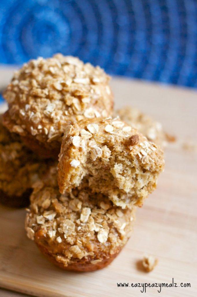 pb banana oat muffins