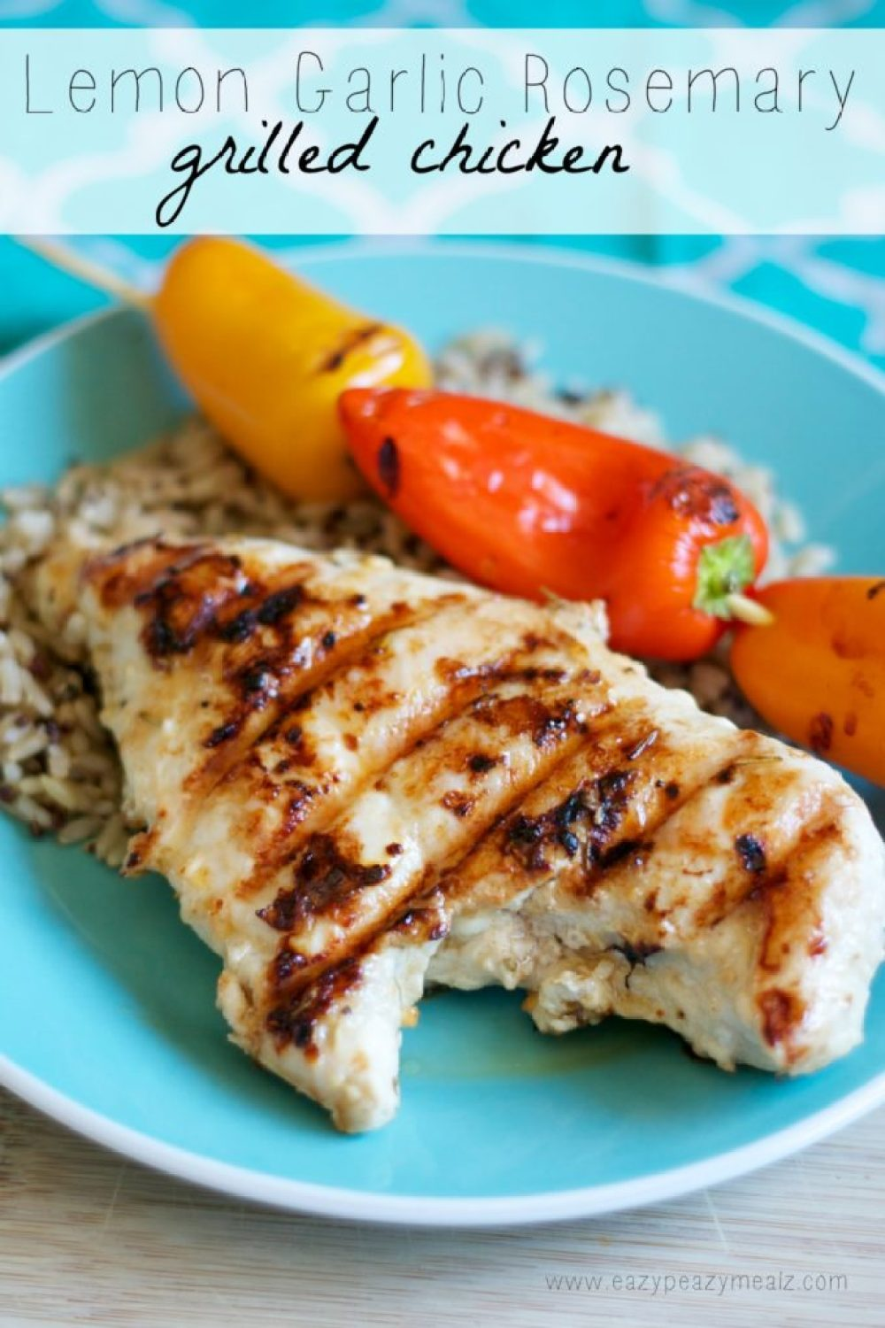 Lemon garlic rosemary grilled chicken