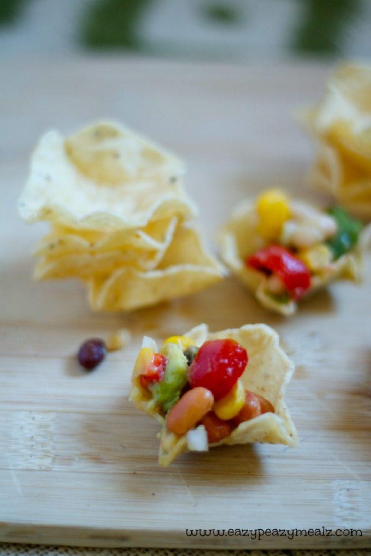 bean salsa chips