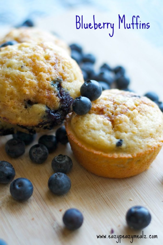 blueberry muffins eazy peazy mealz