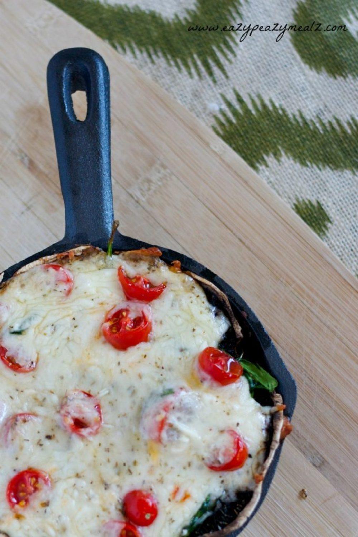 portbello mushroom pizza
