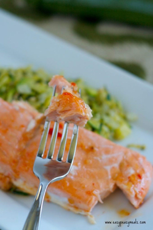 salmon, sweet chili