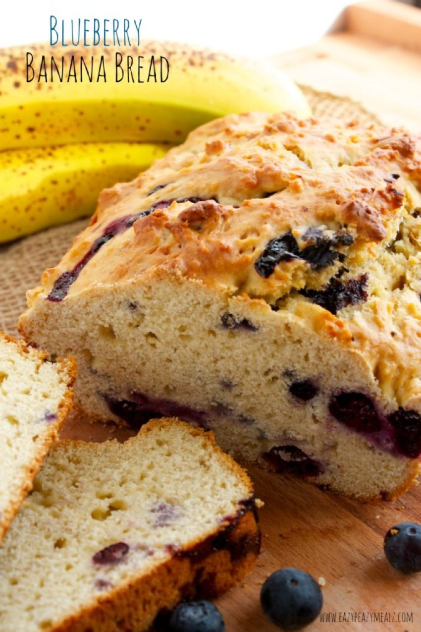Loaf blueberry banana bread