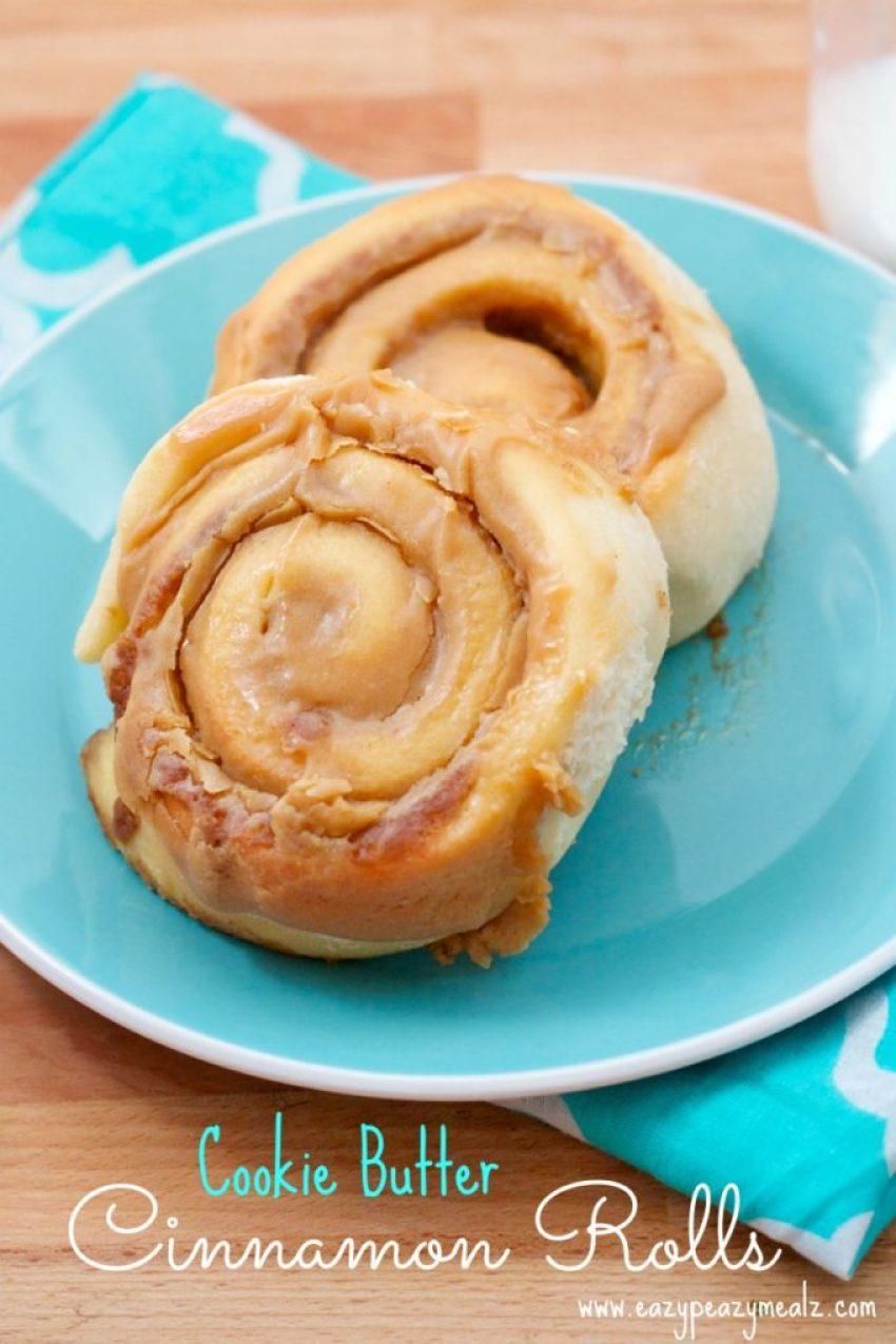 Cookie Butter Cinnamon Rolls Recipe