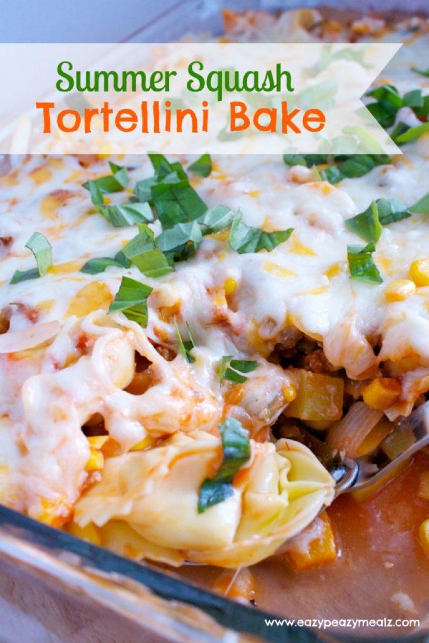 Summer Squash Tortellini Bake