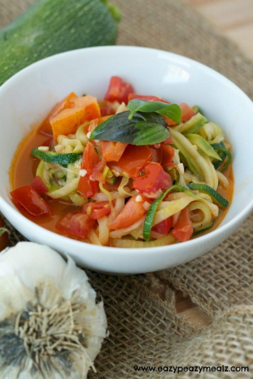 garden harvest zoodle soup