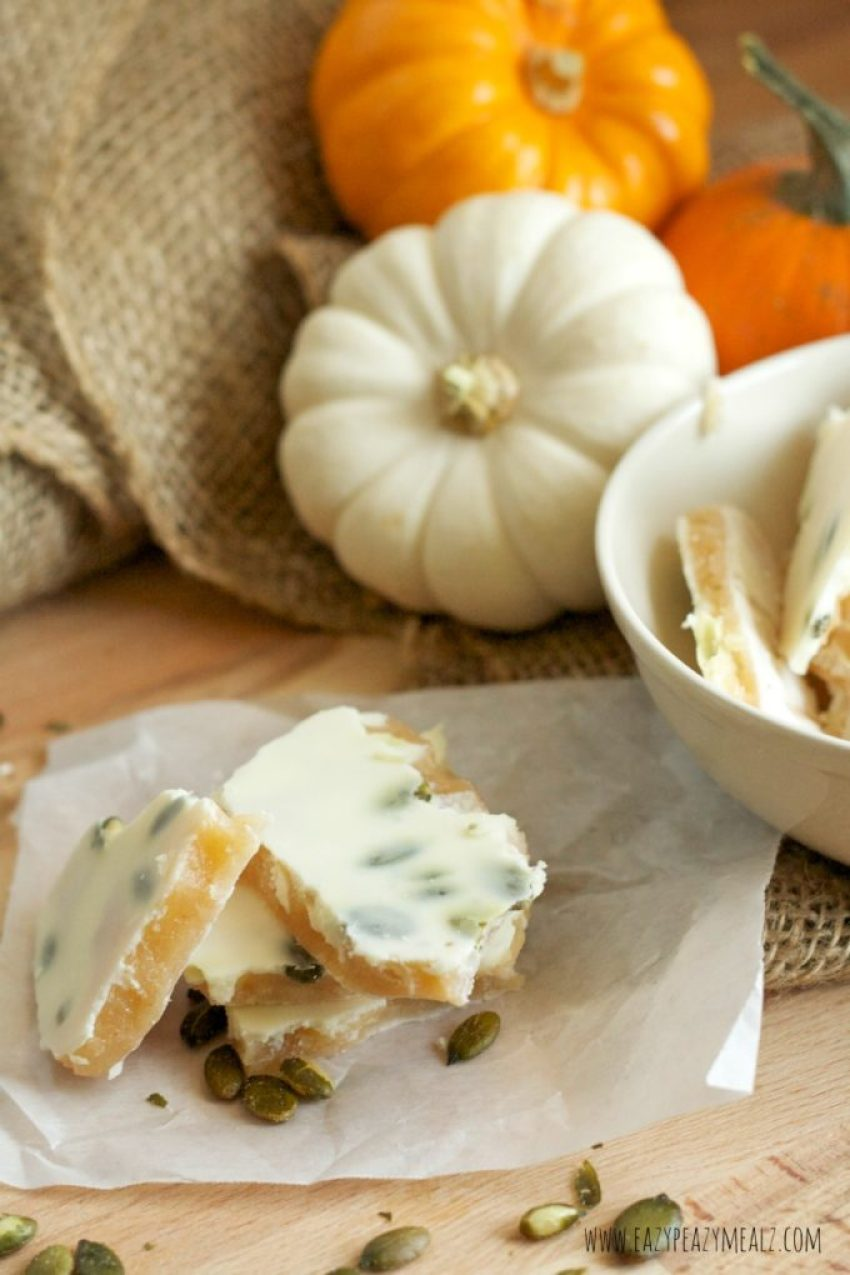 pumpkin flavored toffee