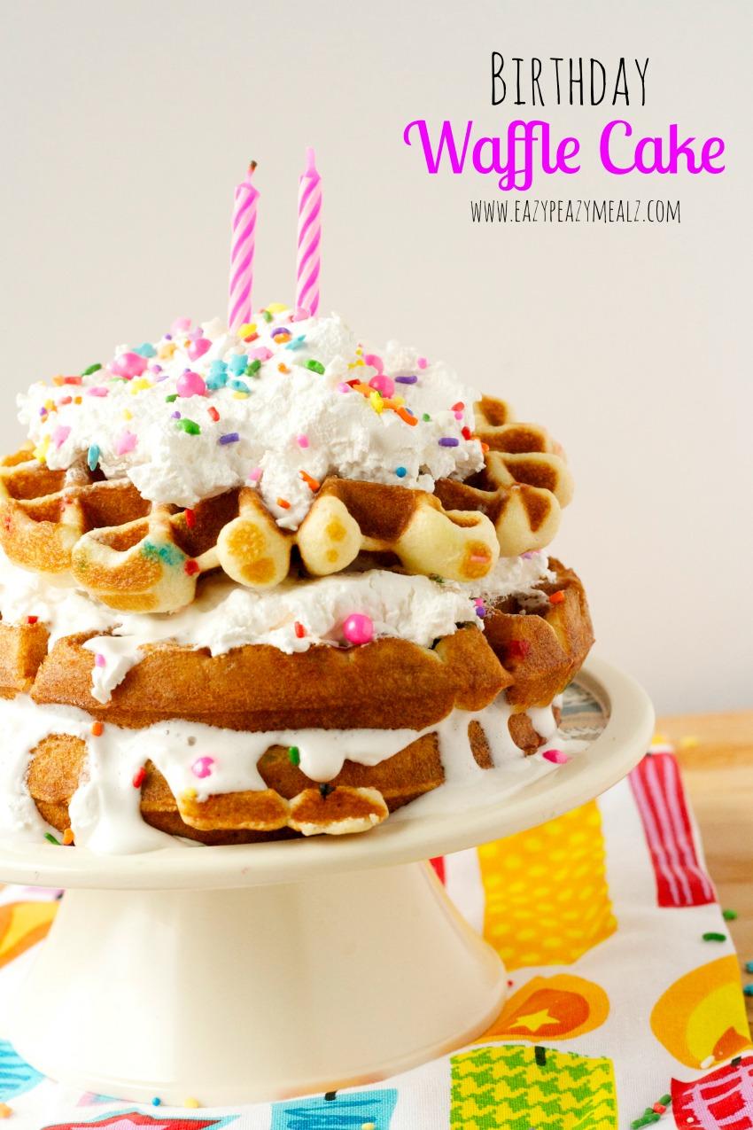 birthday waffle cake stand