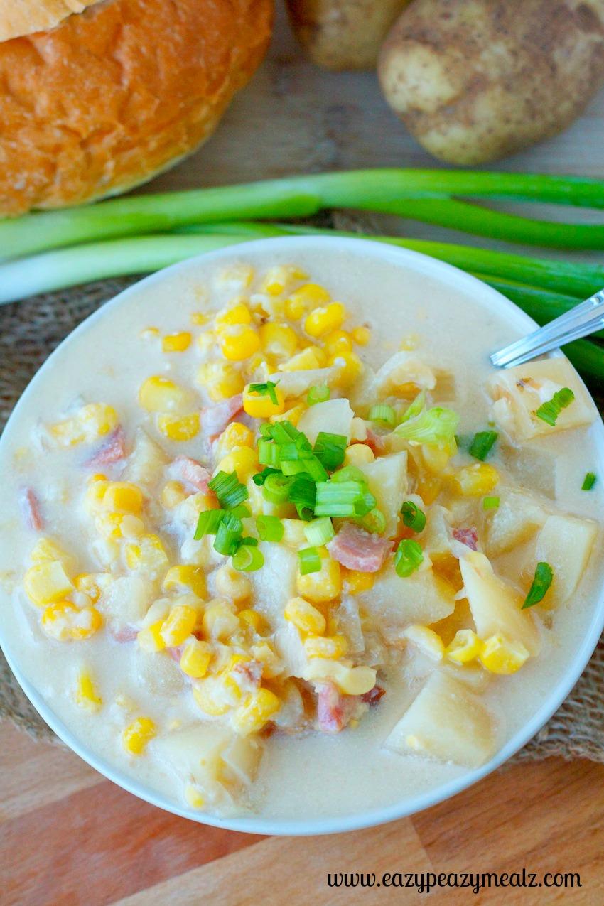 corn chowder dinner