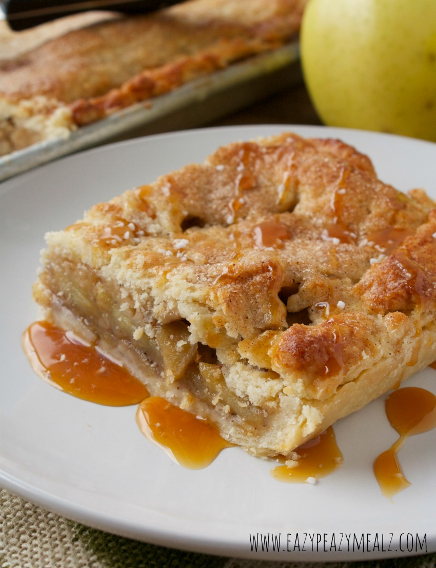 apple pie slab #caramelapple