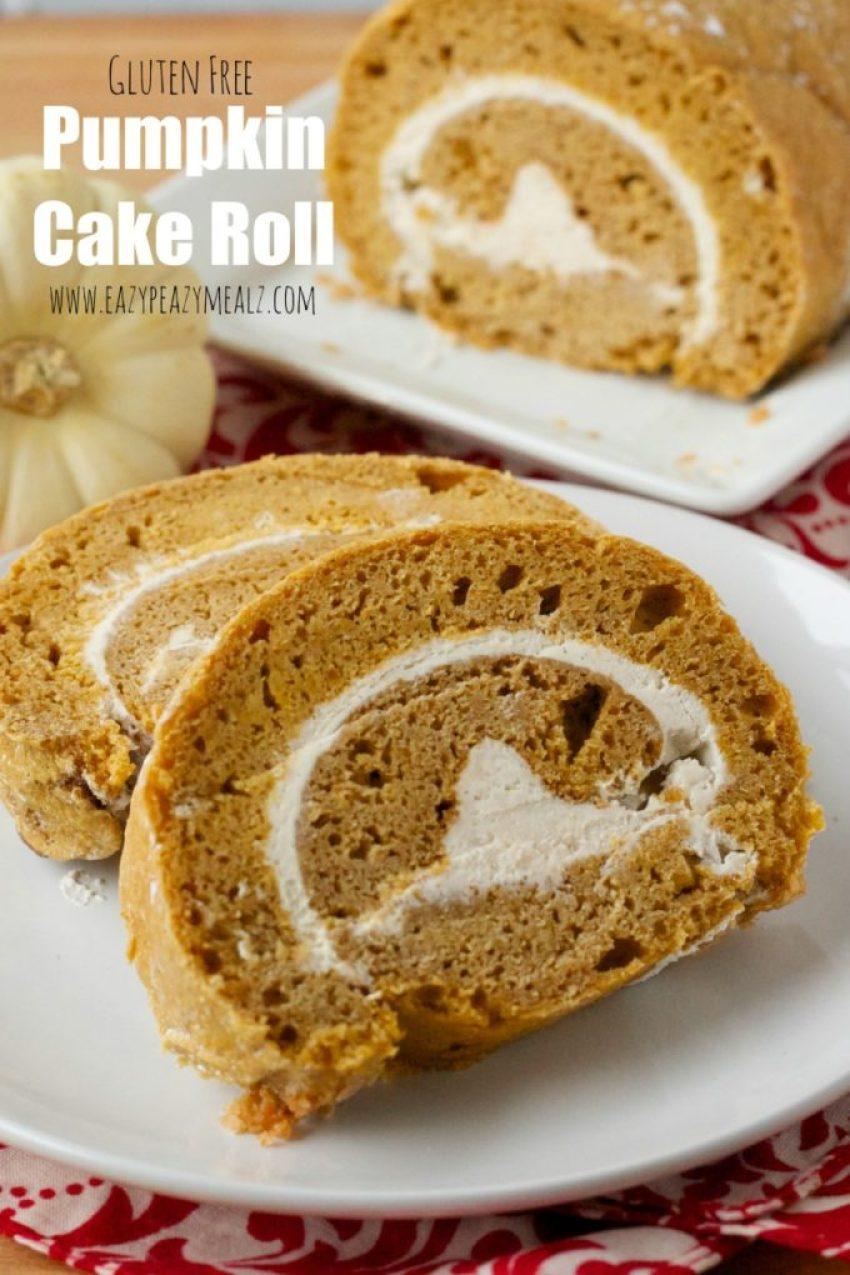 gluten free pumpkin cake roll