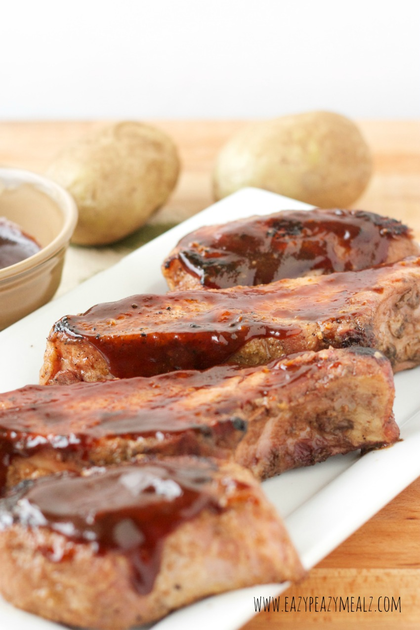 ribs with hoison bbq