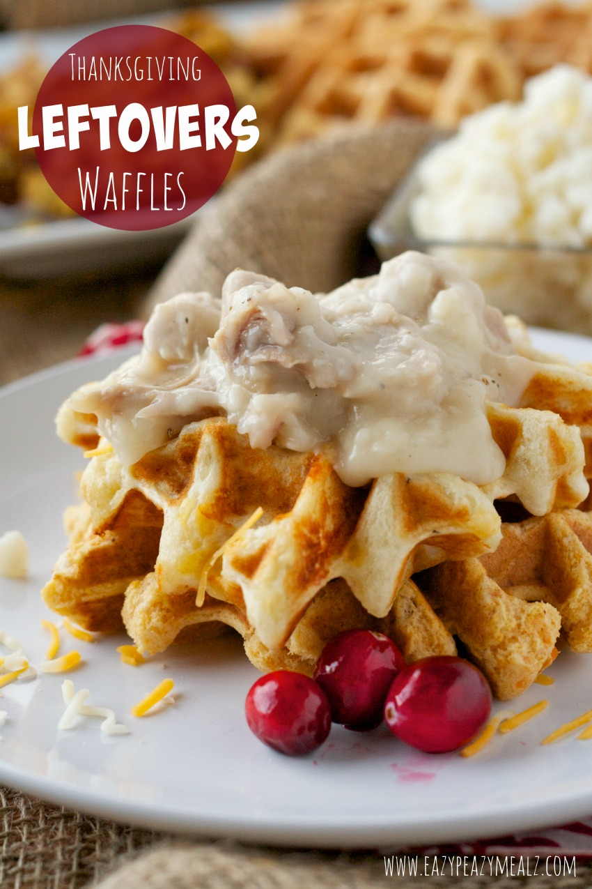 thanksgiving leftovers waffles #leftovers #waffles