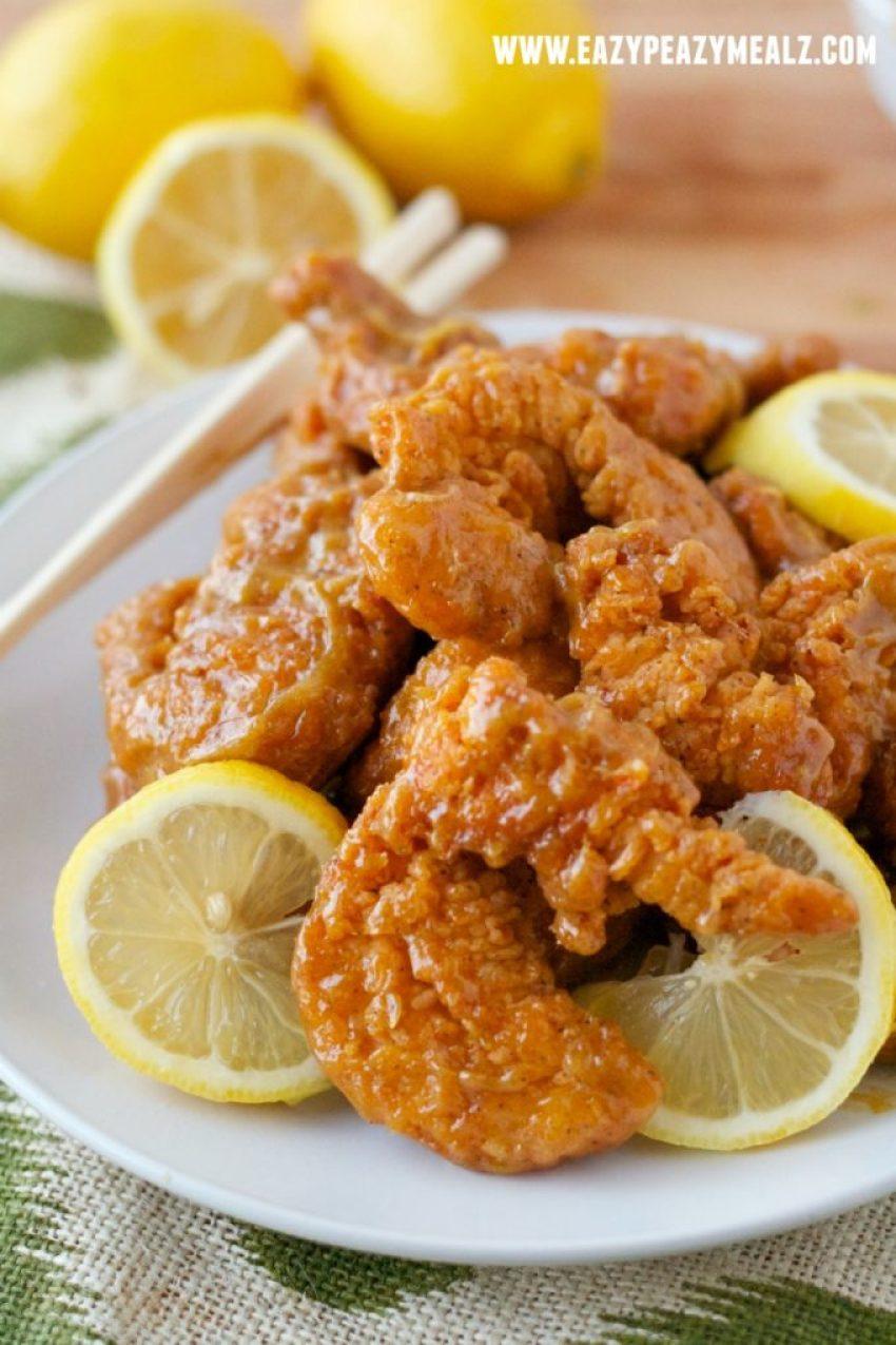 yummy lemon chicken #lemonchicken #chicken #asianchicken
