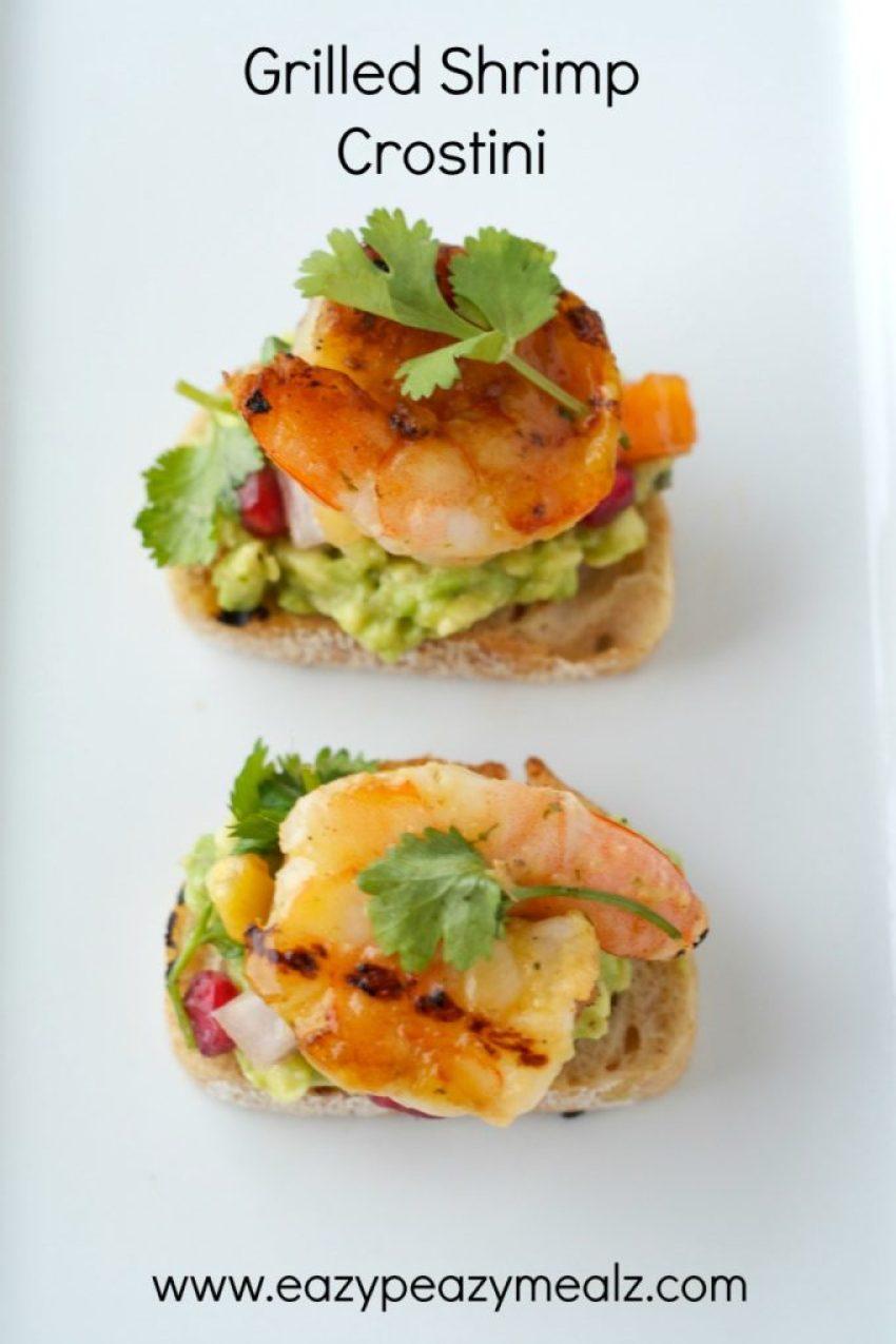 grilled shrimp crostini