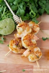 honey lime spicy shrimp kabobs