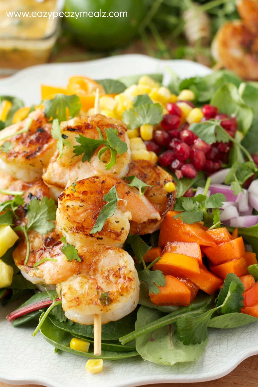 Spicy Honey Lime Shrimp Kabobs  Giveaway  Easy Peasy Meals