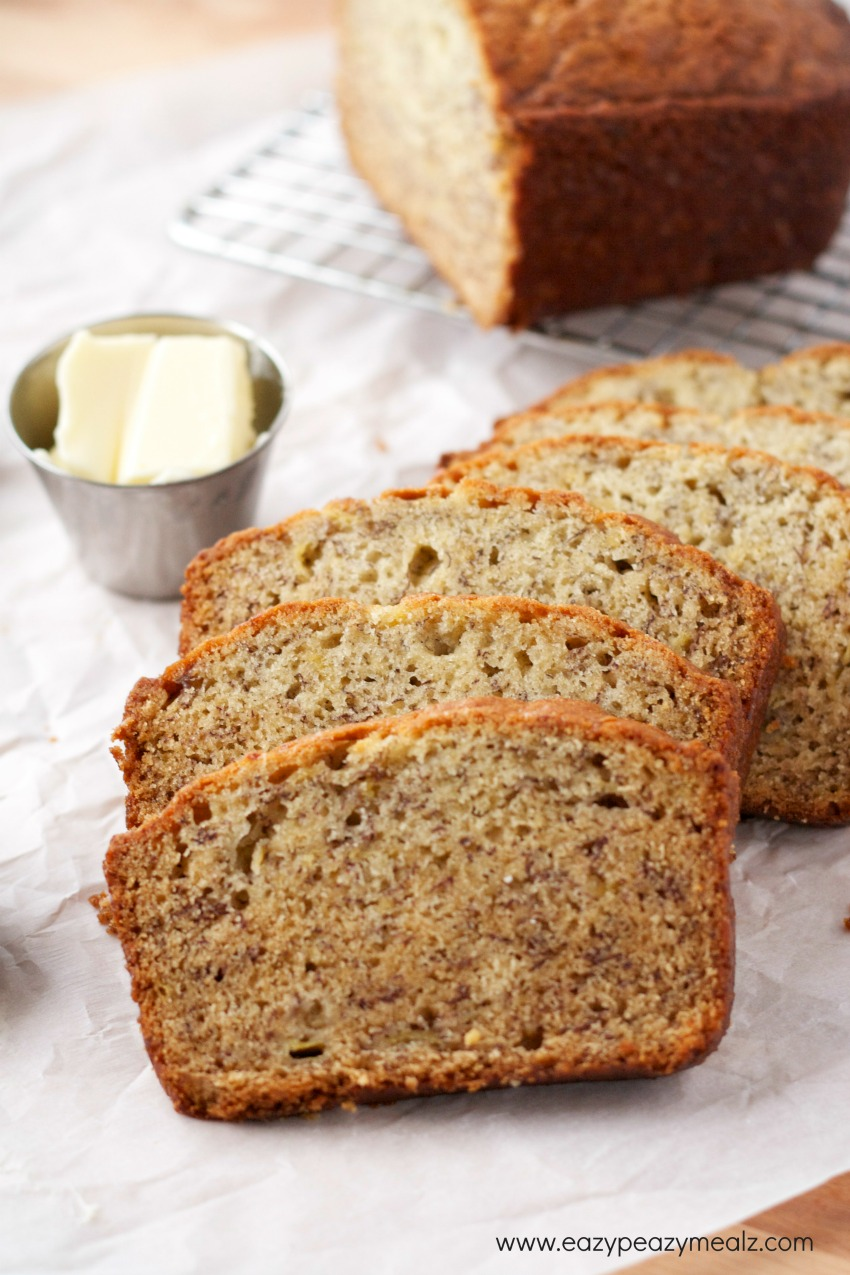 Super easy simple banana bread recipe no mixer needed