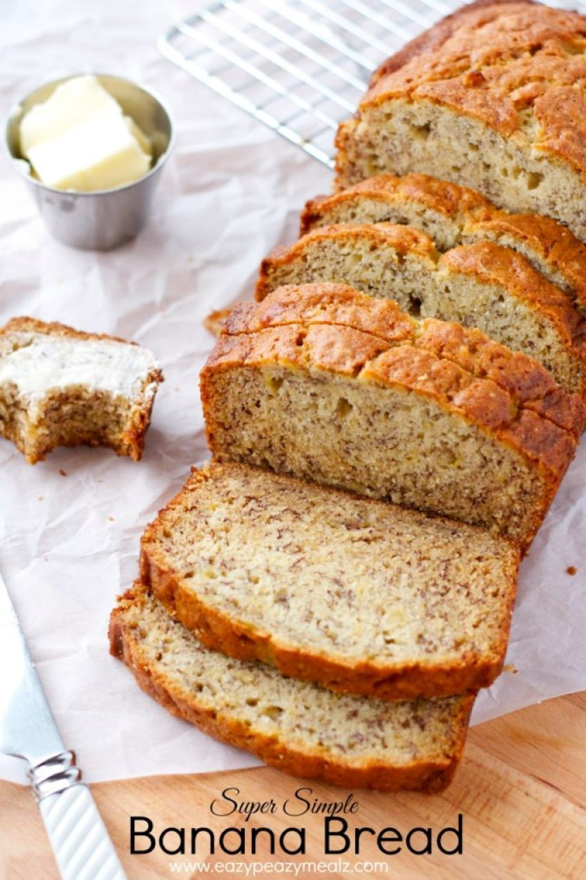 super simple banana bread recipe