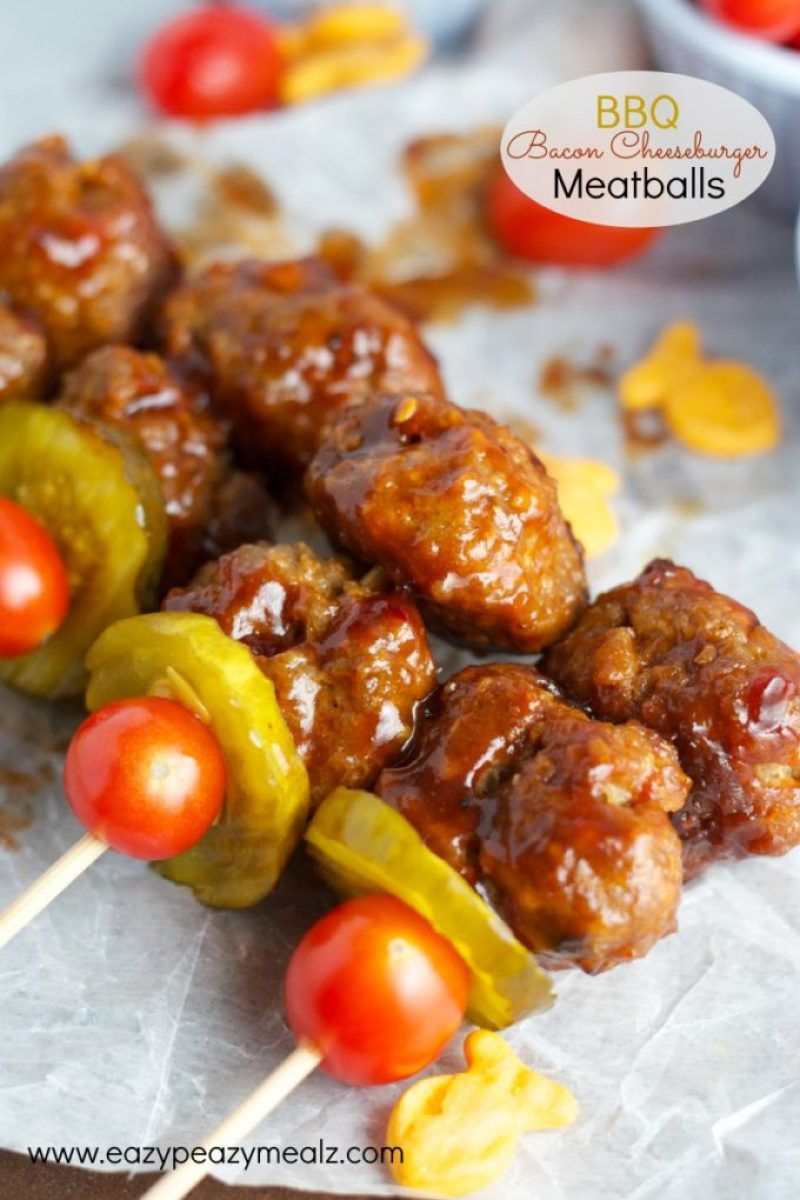 BBQ bacon cheeseburger meatballs, these are a great meal, snack, or game-day menu item.