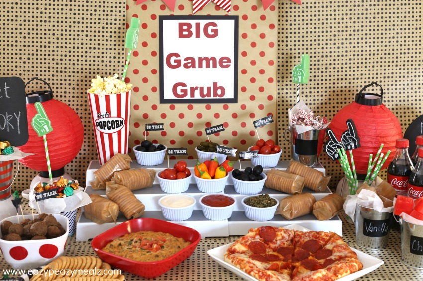 The spread Big game grub