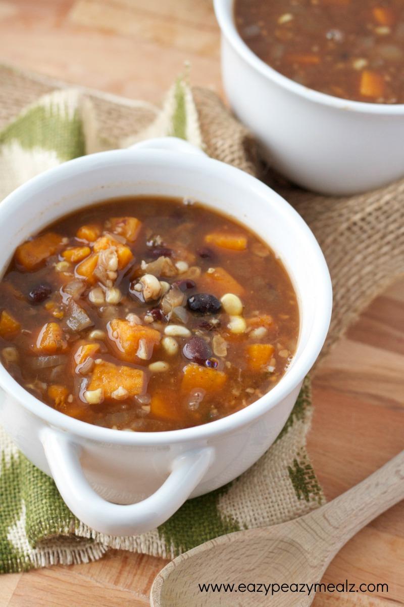 black bean and veggie soup