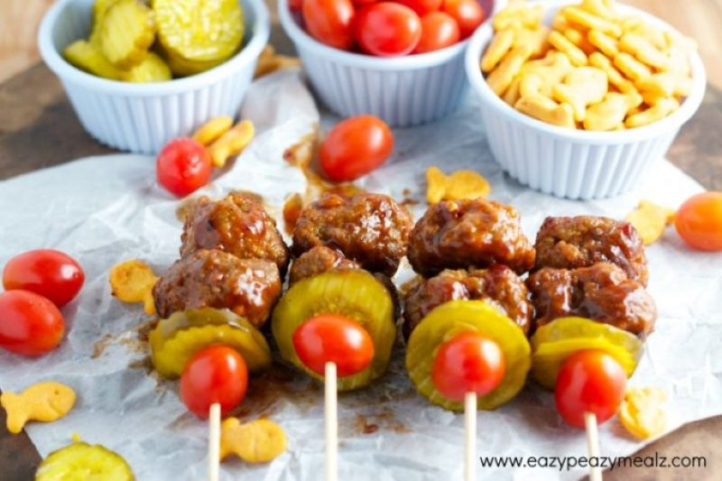 football appetizer meatballs