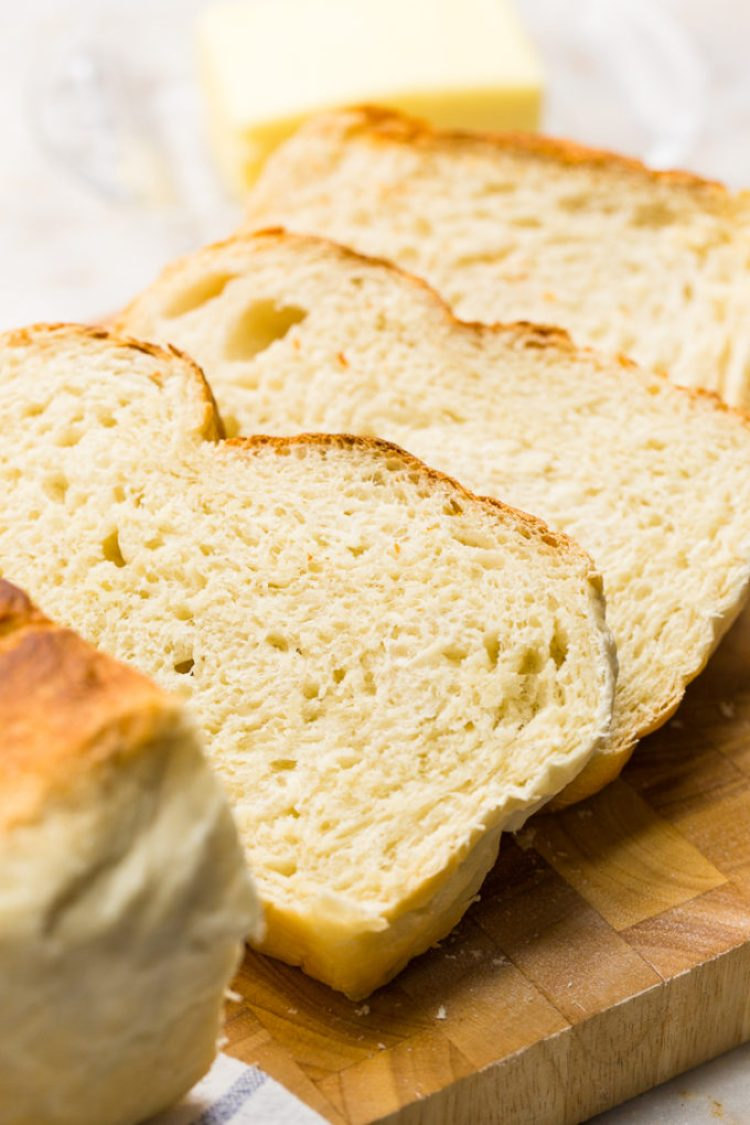 7 Minutes of prep time is all that is required for this artisan crock pot bread- Slices of Artisan slow cooker bread