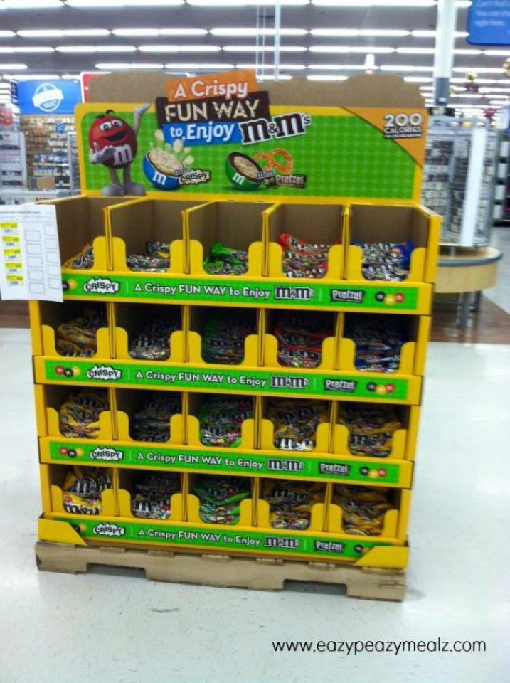 Crispy M&M Walmart aisle