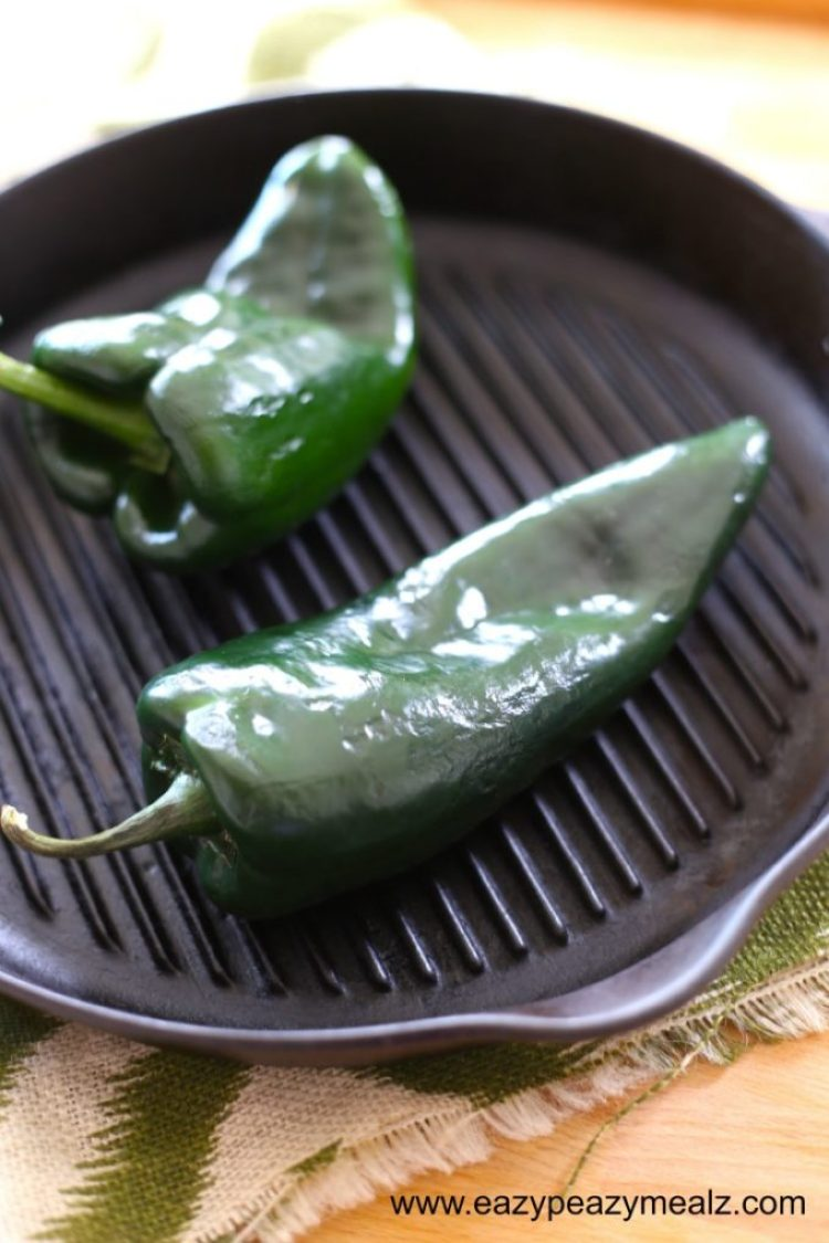 Roasted Poblano, it's so flavorful and smoky