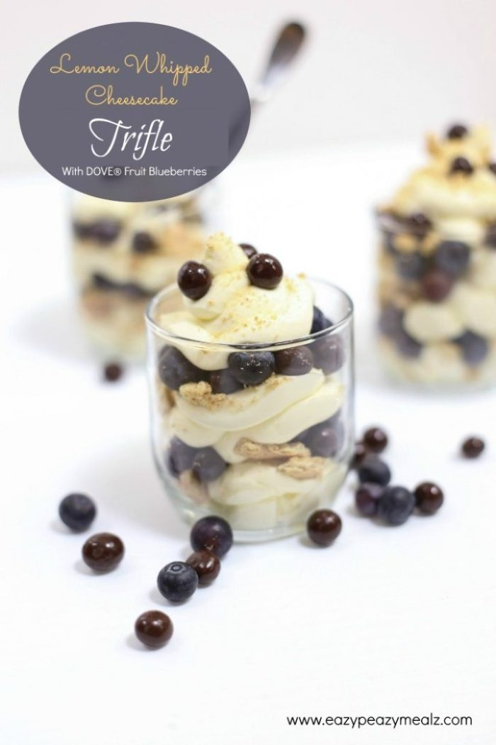 The Lemon Whipped Cheesecake Triffles with  DOVE® Fruit Blueberries #yum