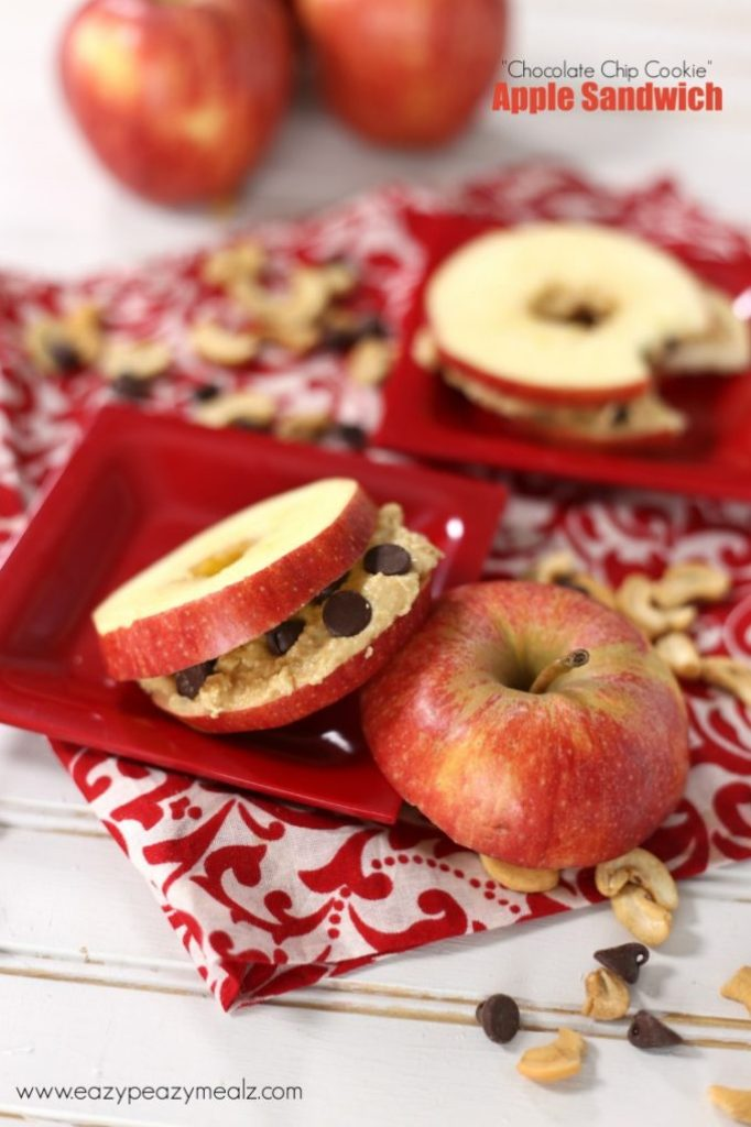 chocolate chip cookie apple sammy snack