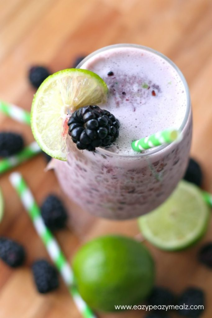 frozen blackberry lime punch
