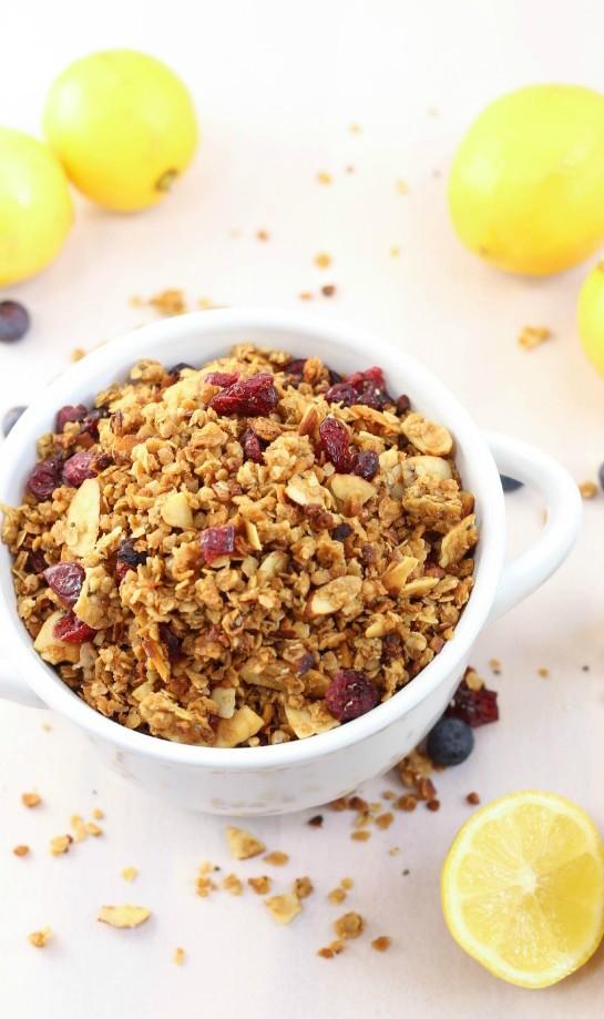 lemon blueberry granola recipe