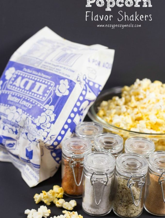 Popcorn flavor shakers, popcorn, flavored popcorn, seasonings