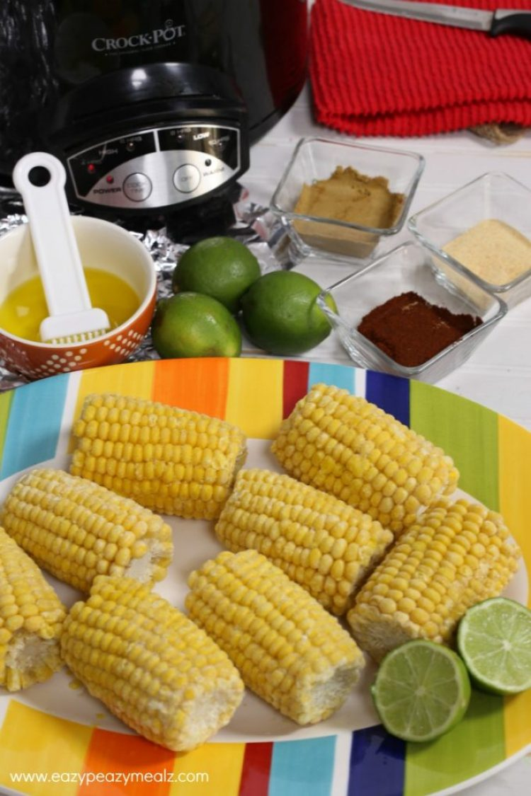 mexican street corn ingredients, a great side dish for dinner