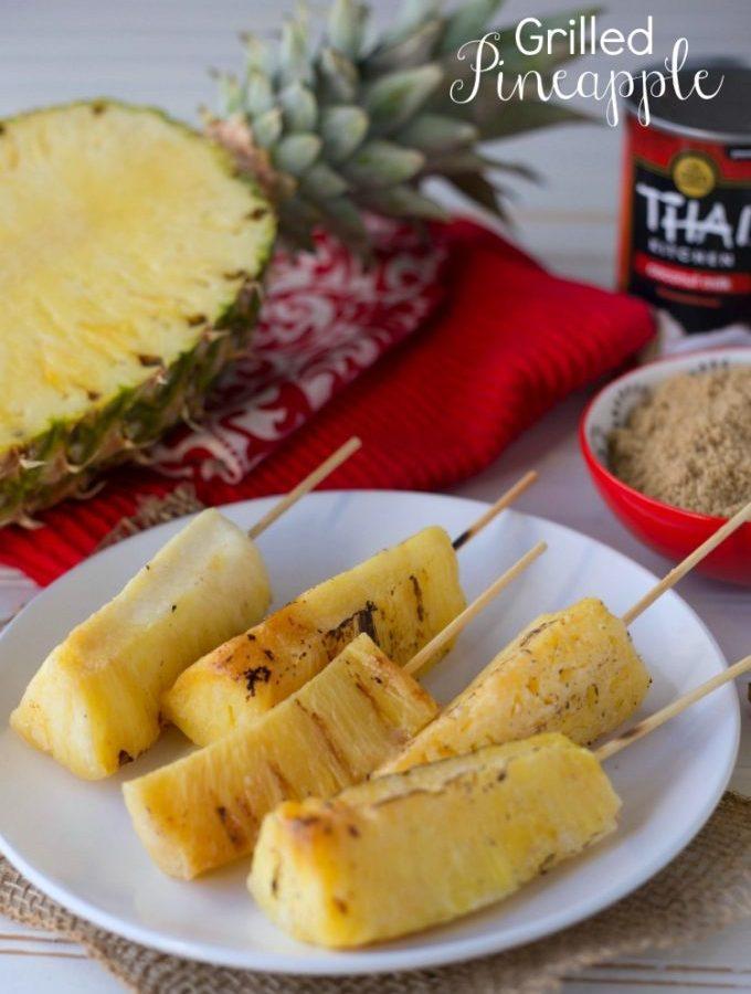 Grilled pineapple skewers