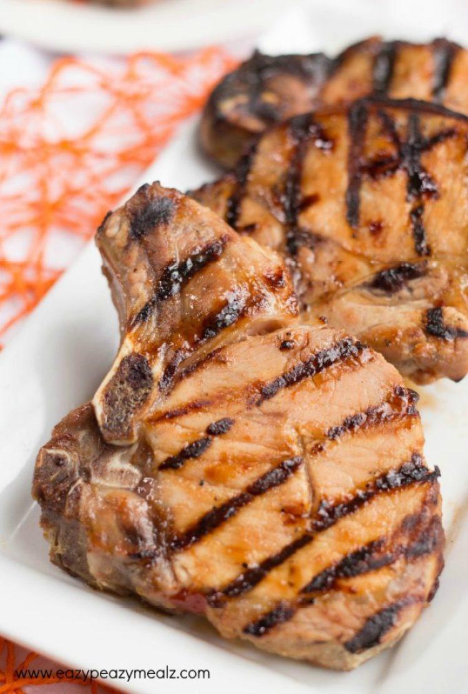 pork chop close up