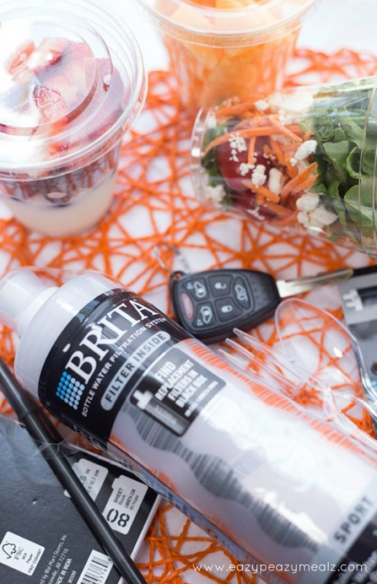 snacks for on the go, staying healthy and hydrated while on the go