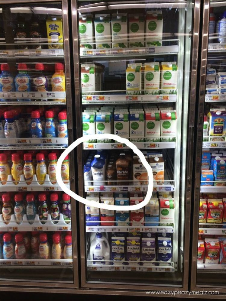 Find Fairlife lactose free milk in the refrigerator section at Kroger